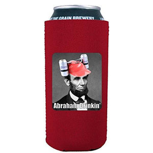 Abraham Drinkin' 16 oz Can Coolie