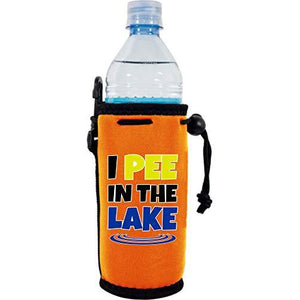 I Pee In The Lake Water Bottle Coolie
