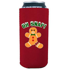Load image into Gallery viewer, 16 oz can koozie with oh nap ginger bread man design