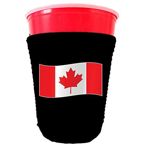 world flags party cup koozie
