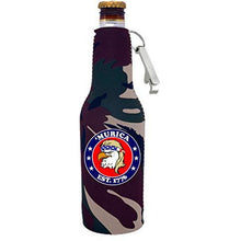 Load image into Gallery viewer, Murica 1776 Beer Bottle Coolie with Opener Attached