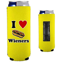 Load image into Gallery viewer, I Love Wieners Magnetic Slim Can Coolie