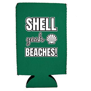 Shell Yeah Beaches 16 oz. Can Coolie