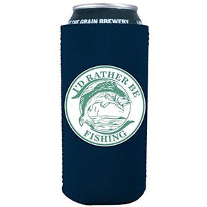 I'd Rather Be Fishing 16 oz Can Coolie