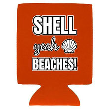 Load image into Gallery viewer, Shell Yeah Beaches Magnetic Can Coolie