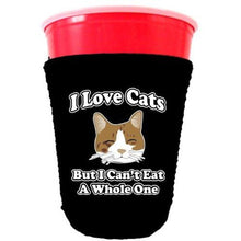 Load image into Gallery viewer, I Love Cats Party Cup Coolie