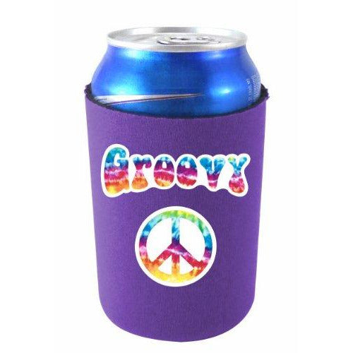 purple can koozie with