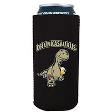 Load image into Gallery viewer, 16oz can koozie with drunkasaurus funny design
