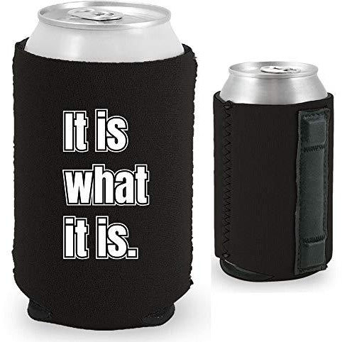 black magnetic can koozie with