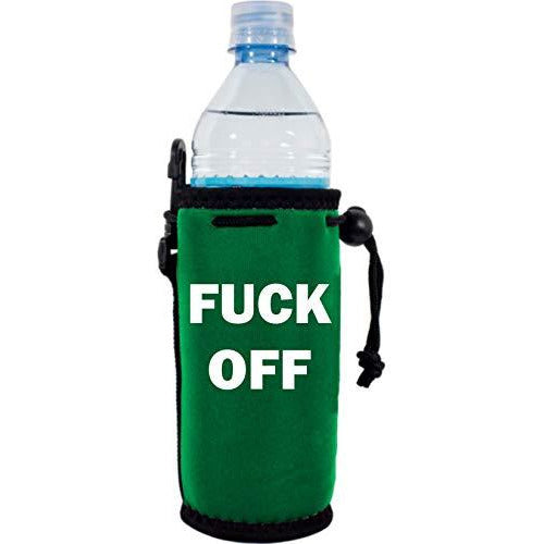 green water bottle koozie with
