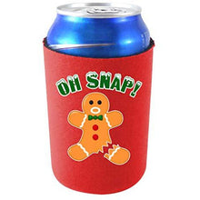 Load image into Gallery viewer, can koozie with oh snap design
