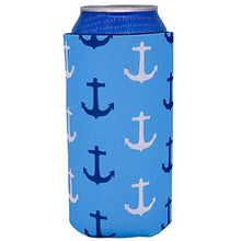 Load image into Gallery viewer, Anchor Nautical Pattern 16 oz Can Coolie
