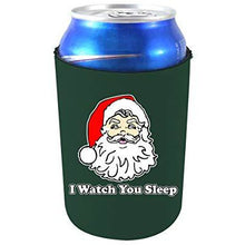 Load image into Gallery viewer, can koozie with i watch you sleep design