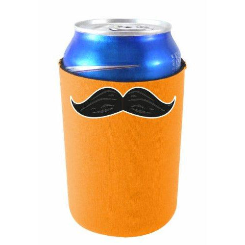 can koozie with mustache design