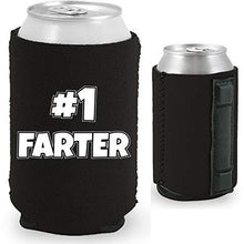 Load image into Gallery viewer, Magnetic can koozie with number one farter funny design