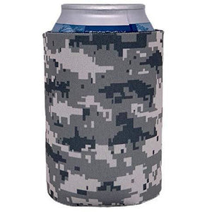can koozie with digital camo pattern printed all over