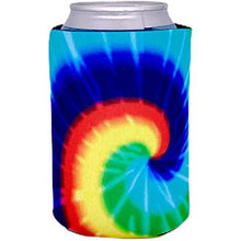 Load image into Gallery viewer, can koozie with tie dye design