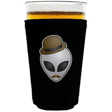 Load image into Gallery viewer, pint glass koozie with alien design