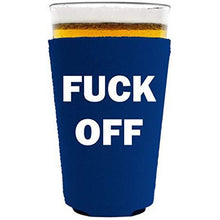 Load image into Gallery viewer, Fuck Off Pint Glass Coolie