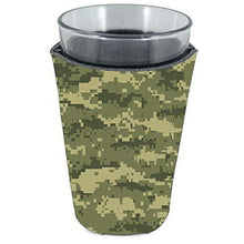 Load image into Gallery viewer, Digital Camouflage Pattern Pint Glass Coolie