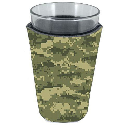 Digital Camouflage Pattern Pint Glass Coolie