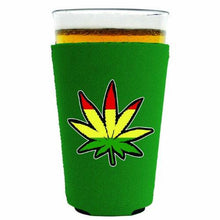Load image into Gallery viewer, Rasta Leaf Pint Glass Coolie