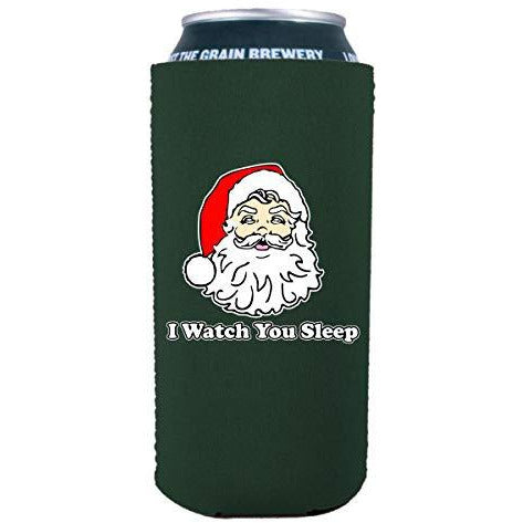 16 oz can koozie with i watch you sleep design