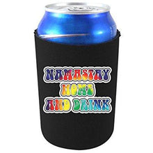 Load image into Gallery viewer, can koozie with namastay home and drink design
