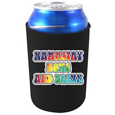 can koozie with namastay home and drink design