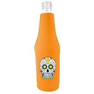 Sugar Skull Beer Bottle Coolie