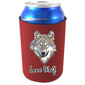 can koozie with lone wolf design