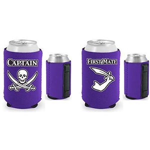 Captain and First Mate Magnetic Can Coolie Set