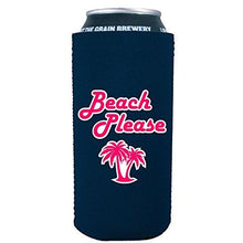 Load image into Gallery viewer, 16oz can koozie with beach please funny design
