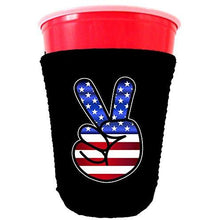 Load image into Gallery viewer, America Peace Sign Party Cup Coolie