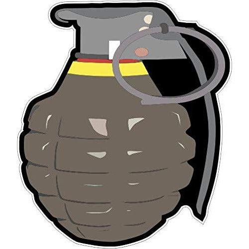 vinyl sticker with grenade design