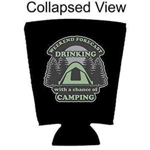 Weekend Forecast Drinking with a chance of Camping Pint Glass Coolie
