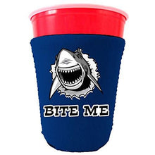 Load image into Gallery viewer, Bite Me Shark Party Cup Coolie