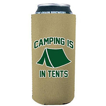 Load image into Gallery viewer, Camping Is In Tents 16 oz Can Coolie