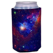 Load image into Gallery viewer, regular can koozie with galaxy space all over print design