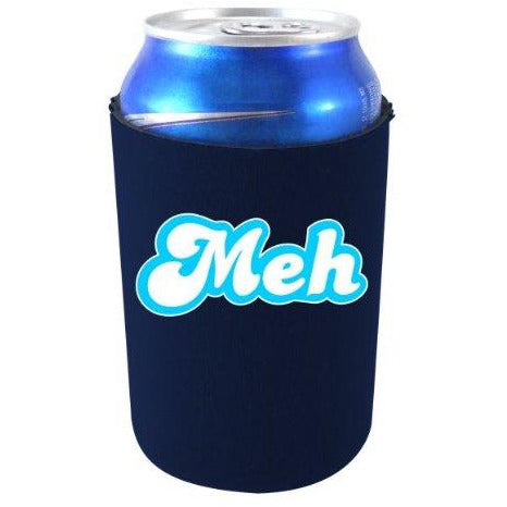 navy blue can koozie with