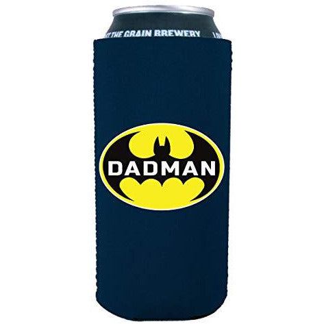 16 oz can koozie with dad man design batman