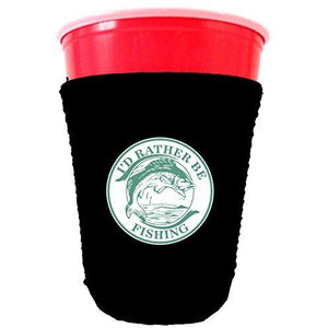I'd Rather Be Fishing Party Cup Coolie