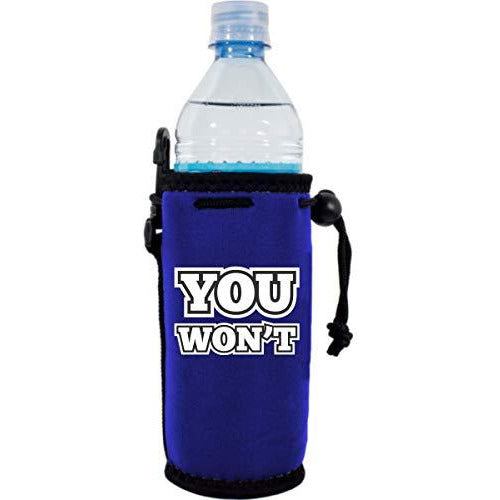 royal blue water bottle koozie with