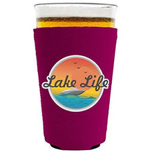 Load image into Gallery viewer, Lake Life Pint Glass Coolie