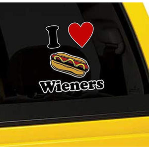 I Love Wieners Vinyl Sticker