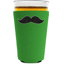 Load image into Gallery viewer, Thick Mustache Pint Glass Coolie