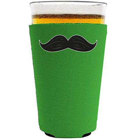 Thick Mustache Pint Glass Coolie