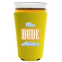 Load image into Gallery viewer, The Dude Abides Pint Glass Coolie
