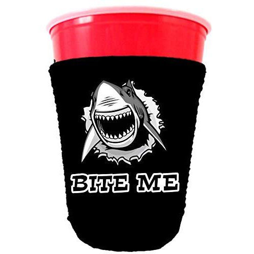 Bite Me Shark Party Cup Coolie