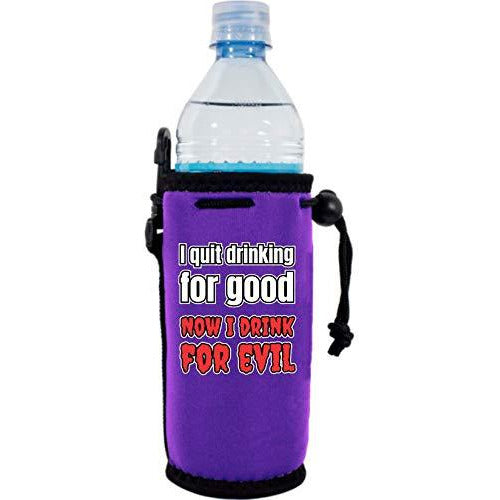 purple water bottle koozie with